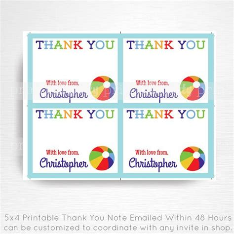 electronic thank you card template digital thank you card you print beaches