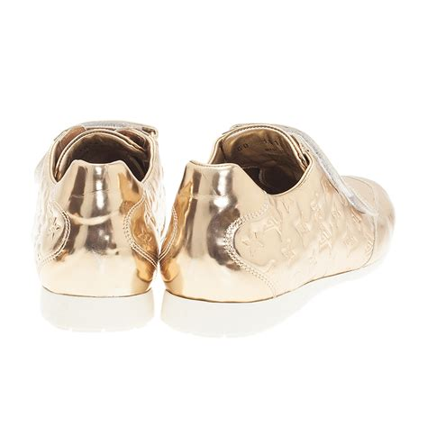 Lv Sneakers Monogram Mix Mirror Quality louis vuitton metallic gold monogram mirror tennis shoes size 39 5 buy sell lc