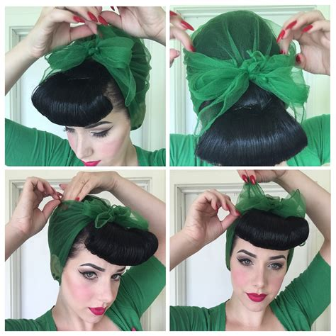 how to tie a vintage hairscarf miss victory violet