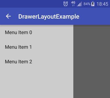 android design drawer layout drawerlayout exle