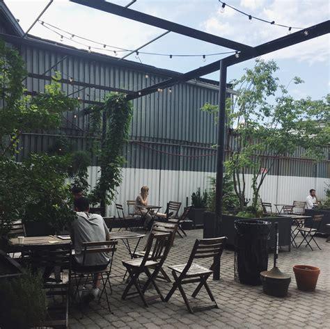 design coffee shop outdoor kave bushwick brooklyn backyard space escapeyourdesk
