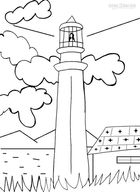 coloring page lighthouse printable lighthouse coloring pages for cool2bkids