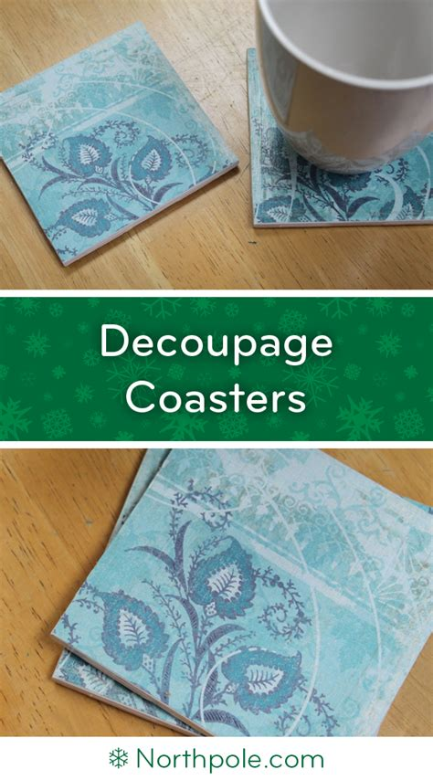 Decoupage Coasters - decoupage coasters northpole craft cottage