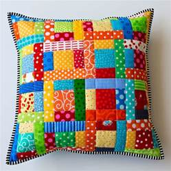 scrappy quilted patchwork pillows