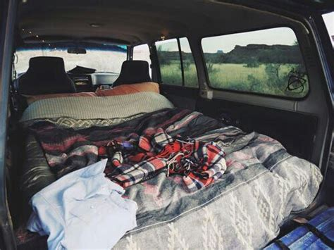 bed in car bed car chilling couples road trip image 3854632 by