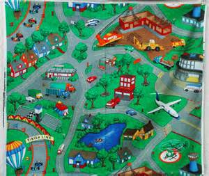 only 2 left map fabric panel car play mat city streets