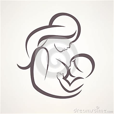 mother breastfeeding her baby stock vector image 64954745