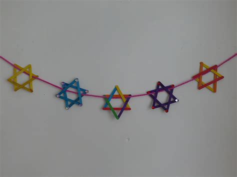hanukkah craft projects popsicle of david bunting crafts