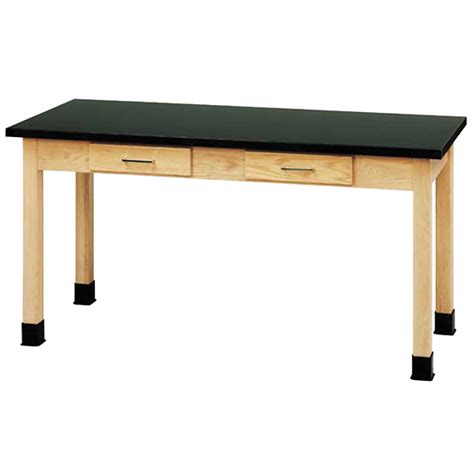 24 x 60 table wood laboratory table with chemguard laminate top 60 x 24