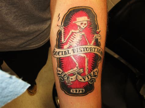 mike ness tattoos social distortion ink social