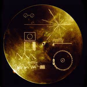 Voyager 1 and 2 golden record replica the green head