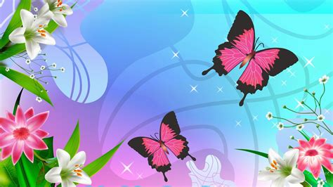 pink wallpaper with butterflies two pink butterfly and flower wallpaper beautiful