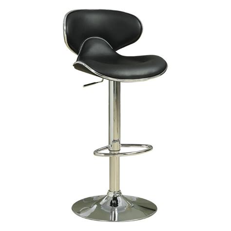 contemporary kelly rolling chrome and black adjustable height stool contemporary bar stools coaster adjustable bar stool with swivel seat in black