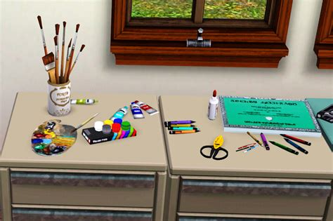 clutter 4 custom content sims mod the sims artsy fartsy clutter