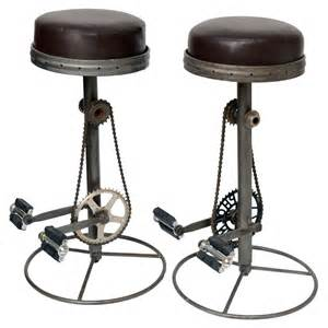 bicycle pedal barstools at 1stdibs