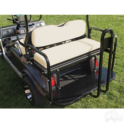 golf cart rear seats heavy duty club car ds rear seat kit flip flop seats