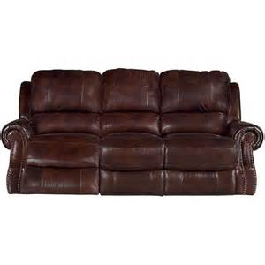 91 quot brown leather match power reclining sofa