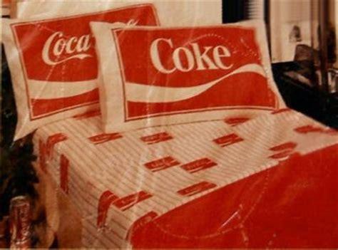 coca cola bedding nip bibb co vintage coca cola coke full bed sheets set