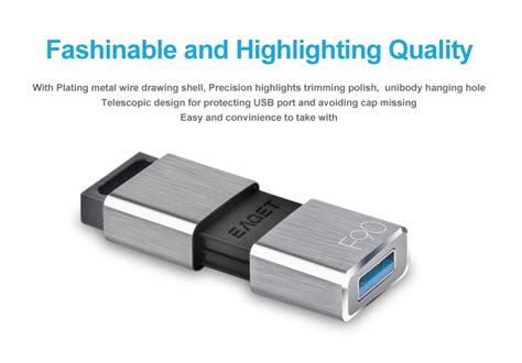Flashdisk Sandisk Usb Sdcz71 064g 64gb Silver eaget f90 64gb usb3 0 flash drive disk for android