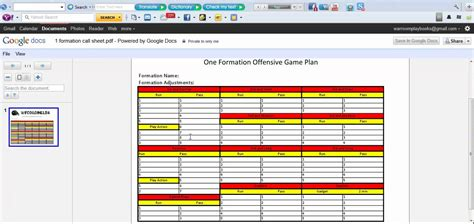 football call sheet template offensive call sheet template software free