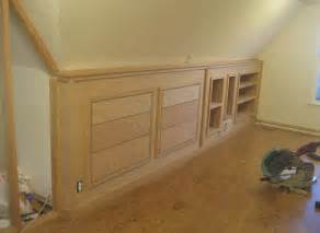 Sanding And Staining Kitchen Cabinets finished built in knee wall cabinetry flickr photo