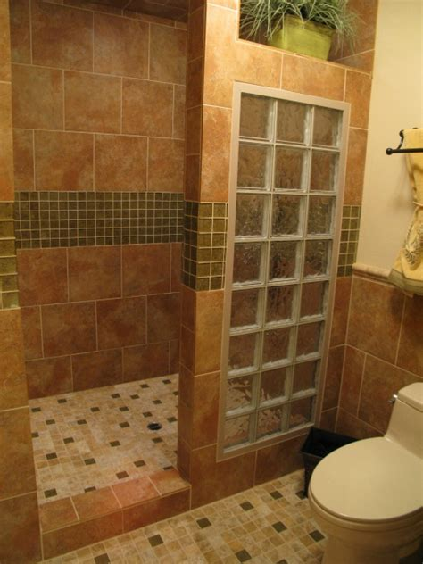 Master Bathroom Plans With Walk In Shower Master Bath Remodel With Open Walk In Shower For Empty Nesters Bathroom Designs Decorating