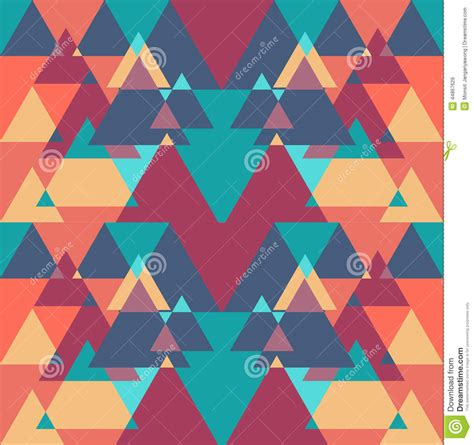 Triangle Color Pattern Vector | seamless geometric triangle color pattern background stock