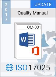 free quality manual template iso 17025 2017 quality manual template