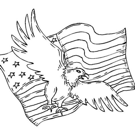 coloring pages bald eagle and us flag patriotic coloring pages american bald eagle coloringstar