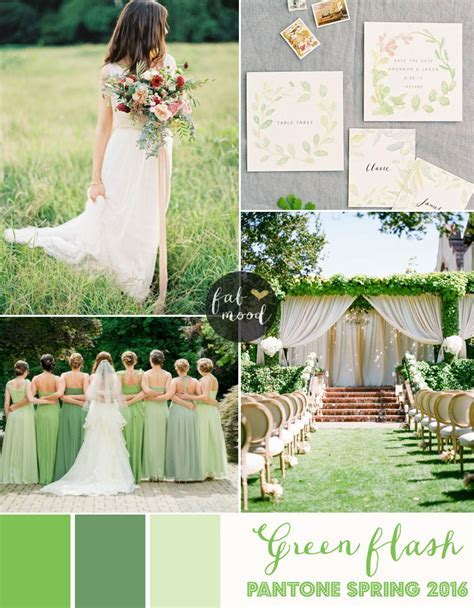 Green Flash Wedding Theme { Pantone Spring 2016 }