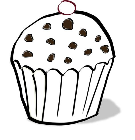 187 Chocolate Chips Muffin Coloring Book Svg Colouringbook Org Muffin Coloring Page
