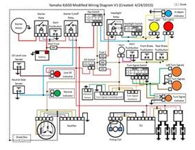 modified electrical wiring diagram xjbikes yamaha xj