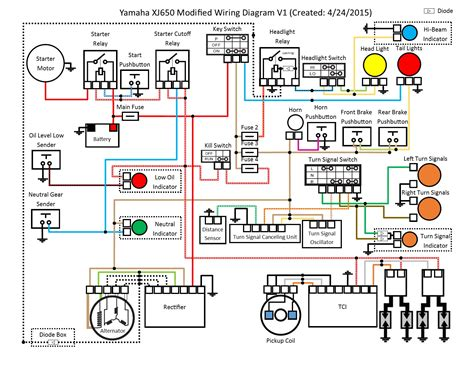 yamaha motorcycle xj wiring diagram wiring diagram with