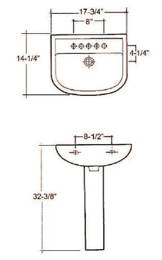 standard pedestal sink width barclay porcelain regular and corner pedestal sinks