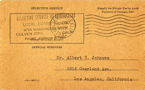Selective Service Letter In The Mail The National Wwii Museum New Orleans Learn For