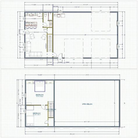 shop building plans steel shop with living quarters floor plans 28 images