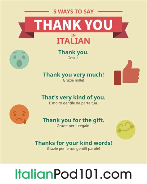 how do you say in italian how to say thank you in italian italianpod101