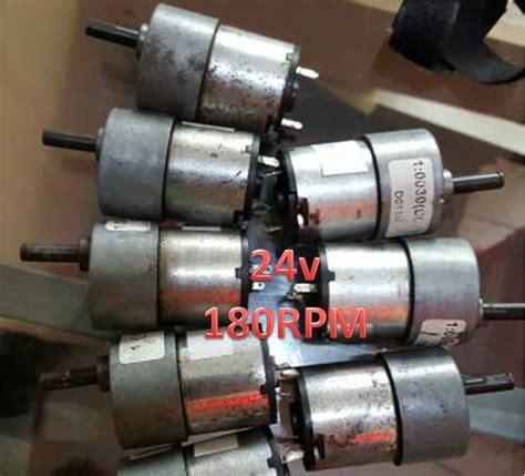 Jual Motor Dc Dengan Encoder jual motor dc 24v 180rpm motor dc torsi besar berkualitas malang electronic