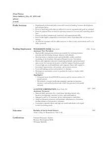 Banking Resume Sle by Resume In Banks For Graduates Sales Banking Lewesmr