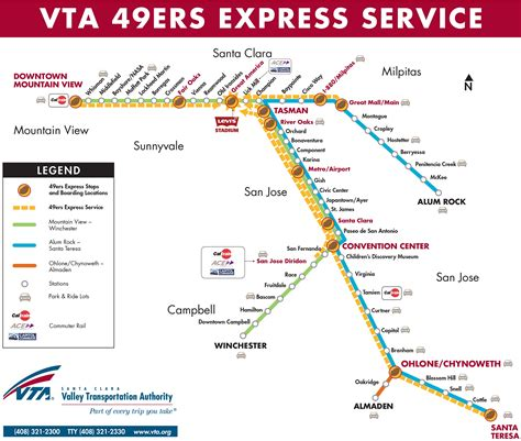 vta map light rail service map express light railservice map service map pedestrian access map