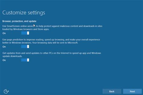 install windows 10 network windows 10 upgrade express settings how to customize them