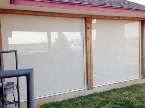 enjoy your patio all year long with wind blocking shades