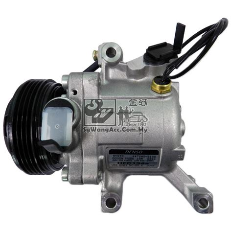 Kompresor Myvi air cond compressor perodua myvi original denso end 6