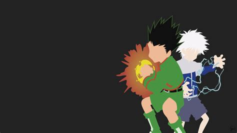 hunter x hunter black and white wallpaper hunter x hunter wallpapers wallpapersafari