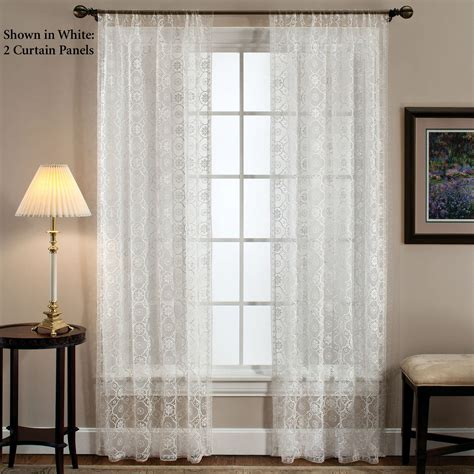 window curtain treatments richmond macrame lace window treatment