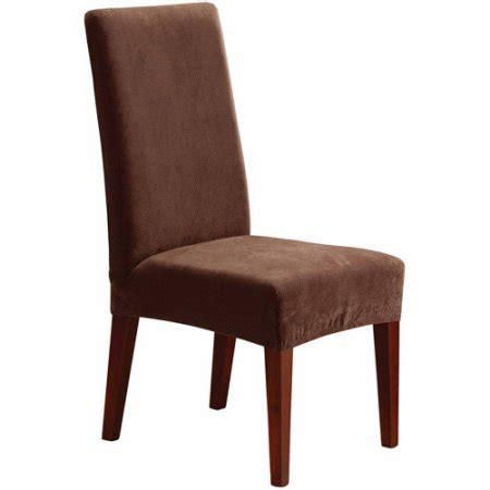 walmart dining room chairs sure fit stretch pique short dining room chair slipcover