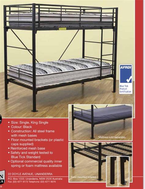 Commercial Bunk Beds Bunk Bed Single Commercial Grade Black Goingbunks Biz