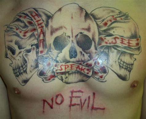 hear no evil see no evil tattoo hear speak see no evil by sxtxix on deviantart
