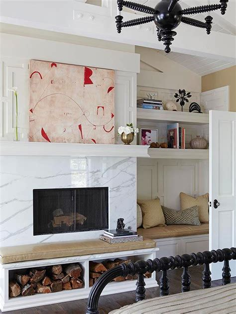 fireplace bench white fireplace ideas fireplaces wood storage and firewood