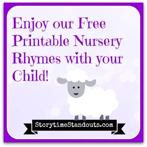 printable free nursery rhymes free printable nursery rhymes for children